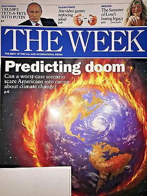 THE WEEK MAGAZINE July 28, 2017 DONALD TRUMP PUTIN Doom AMERICANS CLIMATE CHANGE