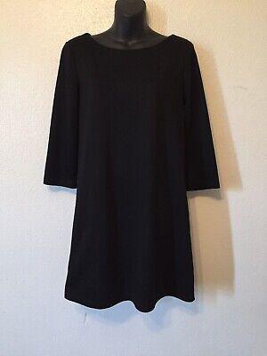 H&M Black Shift Dress Zipper Back Womens Size S