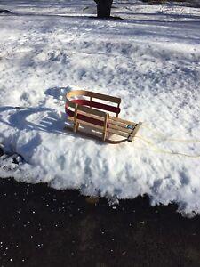 Children's wooden sled