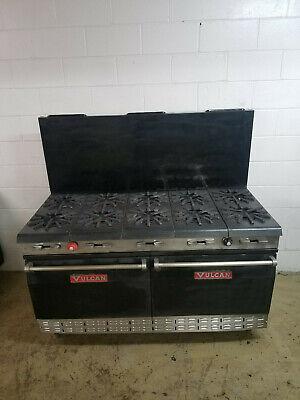 Vulcan 60 10 Burner 2 Full Size Ovens Natural Gas Tested