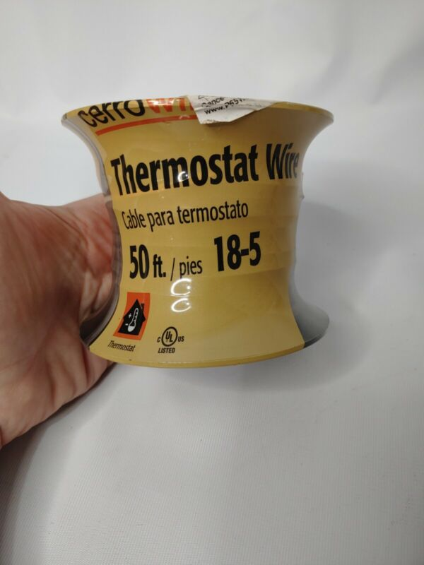 50 Ft Roll of Cerrowire 210-1005CR Thermostat Wire 18/5 18-5 Color Brown New