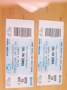 2 tickets COOL FOR SUMMER Shellharbour Shellharbour Area Preview