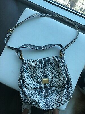 MARC JACOBS PHYTON SNAKE SKIN,LEATHER PURSE