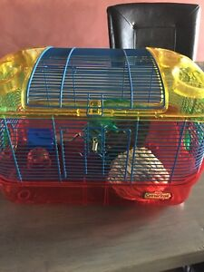 Hamster Cage & Wheel