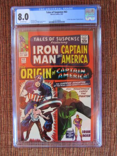 Tales of Suspense 63 CGC 8.0 Captain America Iron Man