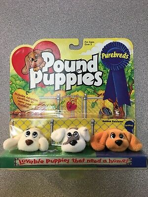 Mini Pound Puppies Dog Vintage Includes Golden Retriever/ Set Of 3](Pound Dog)