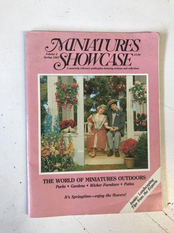 MINIATURES SHOWCASE DOLLHOUSE MAGAZINE Vol 2 1987