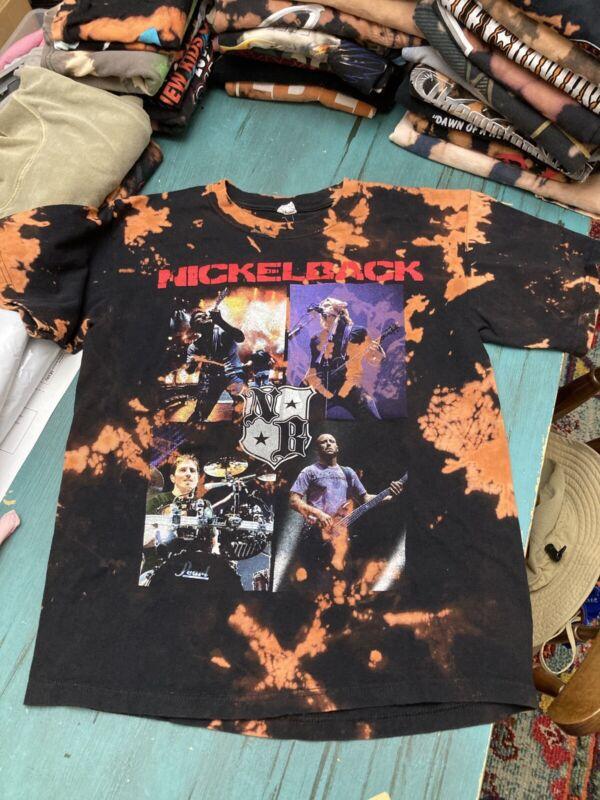 Bleach Tie Dye Nickelback Tour Tshirt Medium