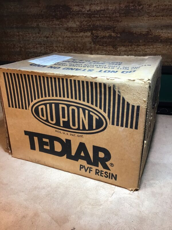 "DuPont TEDLAR PVF Resin ~ 12"" X 1000' ~ Manufactured 1987 ~ Unopened Box"