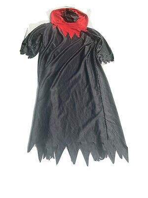 Black and Red Hooded Cloak Adult One Size Grim Reaper Cosplay Costume Halloween