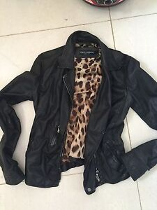 Authentic Dolce Gabbana lamb leather jacket size 38 for women Condell Park Bankstown Area Preview