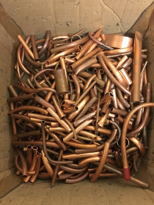 Copper Scrap Tube...For Arts Crafts Flower Stems 1lb Each QTY  tubing is copper