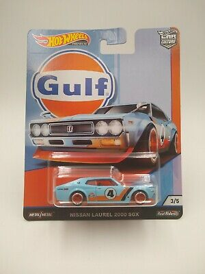 2019 Hot Wheels MOC Car Culture GULF 3/5 Nissan Laurel 2000 SGX metal NEW
