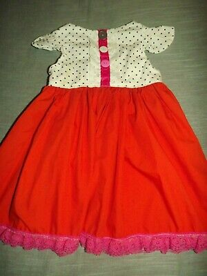 HANDMADE TODDLER GIRLS DRESS COSTUME CLOWN sz 3T - Clown Toddler Costume