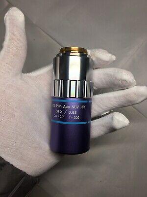Mitutoyo Lcd Plan Apo Nuv Hr 50x0.65 0.7 F200 Infinity Microscope Objective