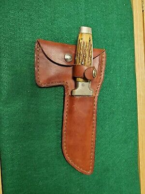 Vintage Case XX Stag Hunting Knife and Hatchet Combo w/ Sheath RARE!