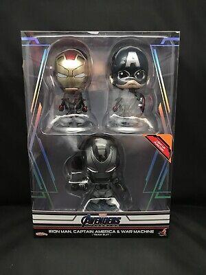 Iron Man Captain America Suit (Hot Toys Cosbaby Avengers Iron Man, Captain America, War Machine Team Suit)