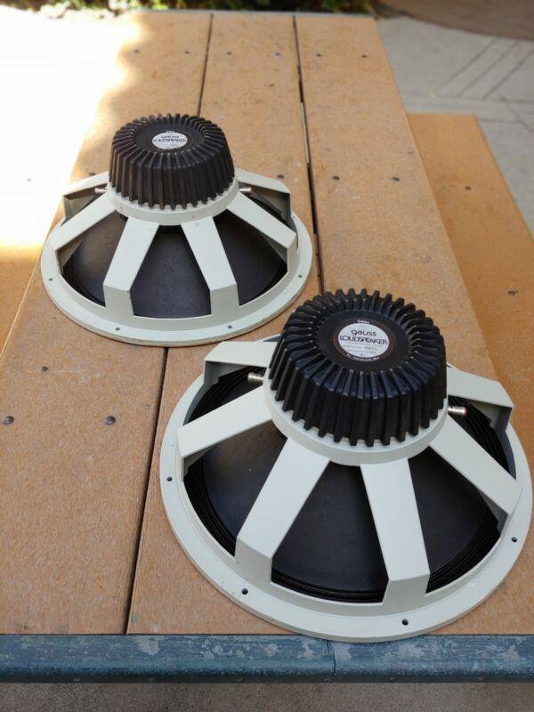 "2 Available  CETEC GAUSS 18"" Loudspeaker Model# 8311  8 Ohm Woofers All Original"