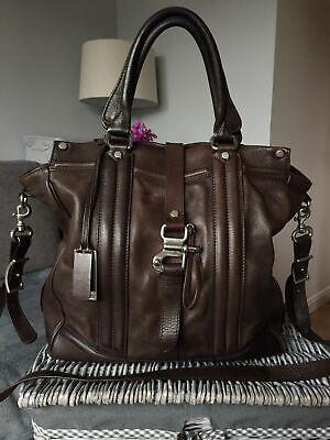 Designer Joy Gryson Heidi Handbag Brown Leather Shoulder Bag
