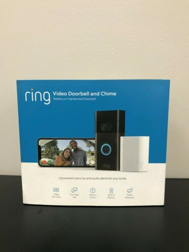 Ring 1080P Wired and Wireless Video Door Bell Camera with Chime Venetian Bronze