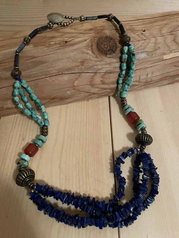 Vintage Turquoise Bead Necklace