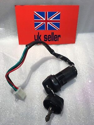 Ignition Switch For Quad , Pit Bike, Lock 2 Keys,  Key With Dust Covers ,4 Wire