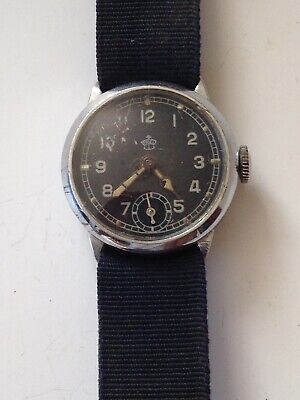"""VINTAGE WW2  MILITARY RARE SMALL 30mm GERMANY MEN'S MECHANICAL WATCH """"THIEL"""""""