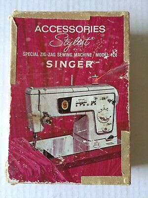 Vintage Singer Stylist Zig Zag Sewing Machine Accessories.