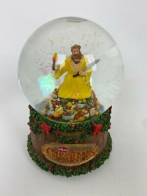 A Christmas Carol Snow Globe Music Box Fruit Sword Disney God Rest Ye Merry