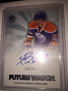 Nugent Hopkins future watch autograph rookie plus freebies!!