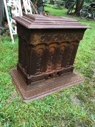 Vintage Antique Cast Iron Parlor Wood Stove Victorian 1800s Philadelphia Stove W