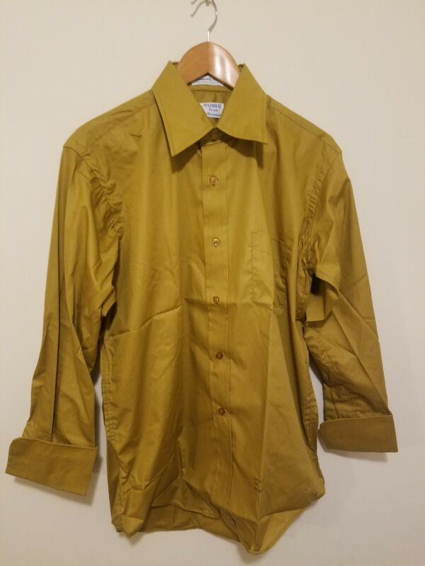 Vintage 1960s Penthouse Trends French Cuff Dress Shirt NOS