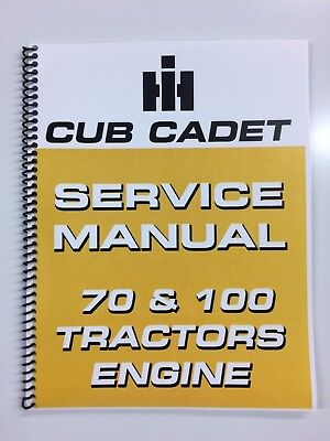 International Harvester Cub Cadet 70 Tractor Engine Service Manual Repair