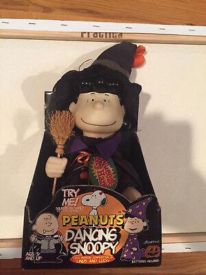 Its the Great Pumpkin Vintage Lucy Van Pelt Dancing Musical Halloween Figure NIB