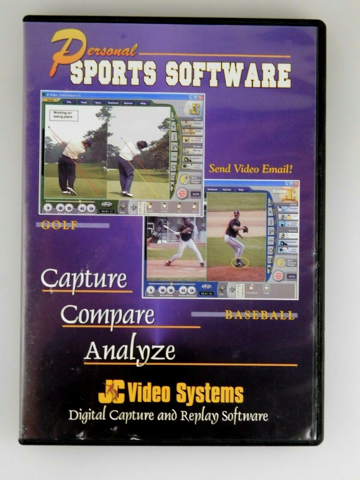Personal Sports Software CD ROM - Capture Compare Replay - JC Video Systems