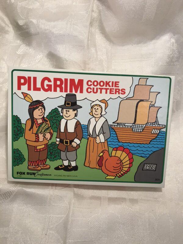 vintage thanksgiving pilgrim metal cookie cutters