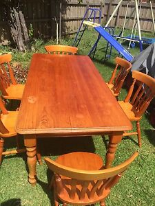 table and chair in good condition 250 00 table and 6 chairs 7 month