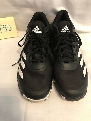 Adidas Mens Shoes Crazyflight Tennis Shoes Size 9 1/2 Black & White Sneakers P83 ()