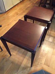 "Krug pair of coffee tables 18 x18"" Great condition"