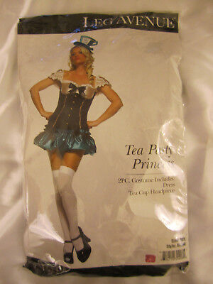 Leg Avenue 83398 Tea Party Princess Mad Hatter Costume 2 piece (Mad Hatter Tea Party Costume)