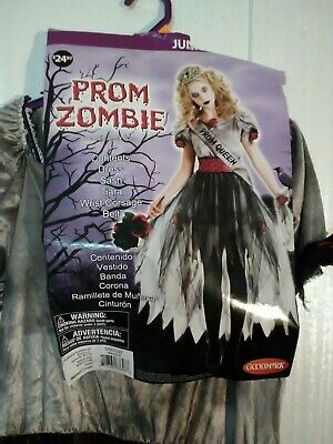 Gothic Zombie Prom Queen Costume Halloween Fancy Dress - Gothic Prom Queen Halloween Kostüm