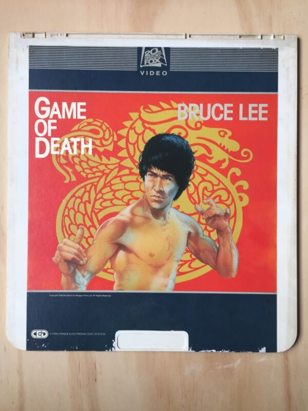 Bruce Lee Game Of Death CED Movie SelectaVision Vintage 80's