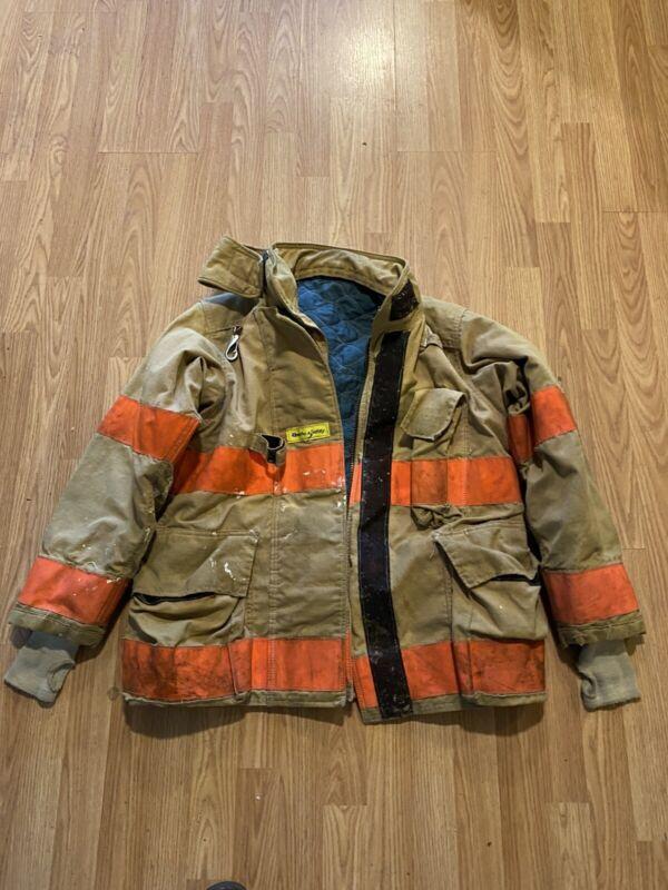 Vintage Quaker Firefighter Bunker Turnout Coat 38 Chest Jacket Gear