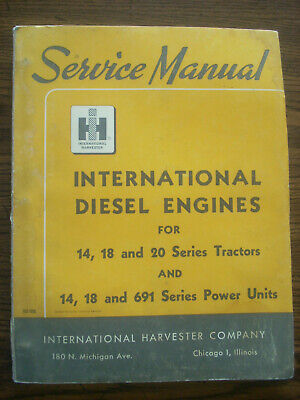 Ih Farmall International Td14 Td18 Td20 Crawler Engine Service Manual