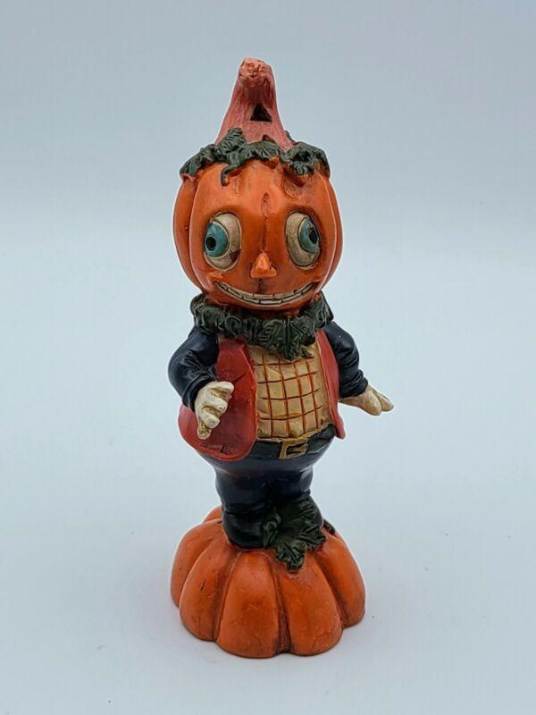 Reproduction of Vintage Halloween Jack O Lantern Anthropomorphic Pumpkin Figure
