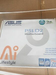 Asus p5ld2 motherboard and core 2 duo processor NEW IN BOXES