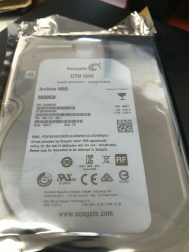 """Seagate Archive HDD 8TB Internal 3.5"""" SATA ST8000AS0002 LOW HOURS"""