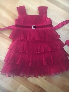 Sparkly red size 3 Christmas dress