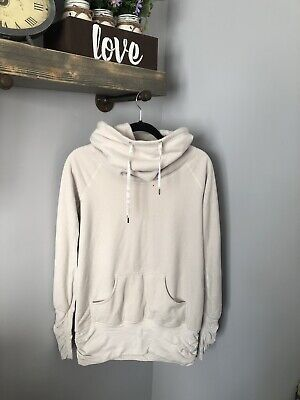 Lululemon 8 Dont Hurry Be Happy Fleece Lined Cowl Sweater Pullover White Ivory