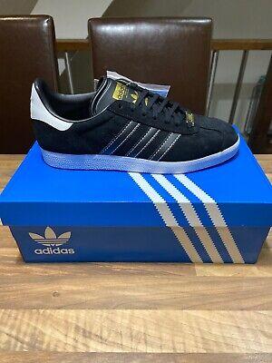 Brand New Adidas Originals Gazelle - Black / Black / White Sole -Hamburg- UK 9